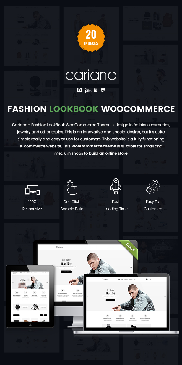 Cariana - WooCommerce Lookbook Fashion Theme - 1