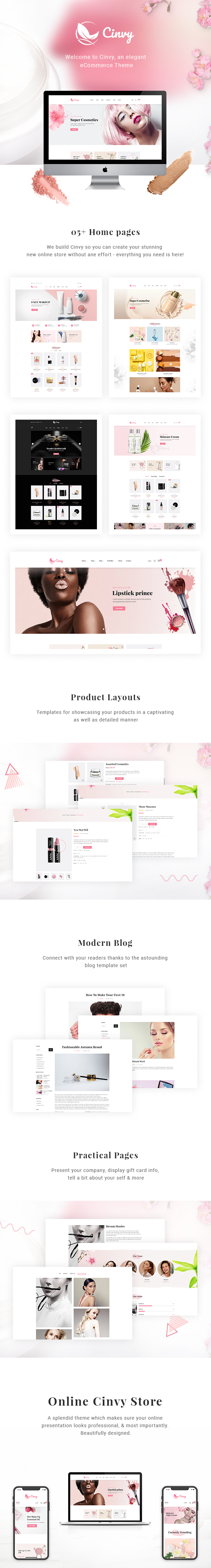 Cinvy – Cosmetics WooCommerce WordPress Theme - 1