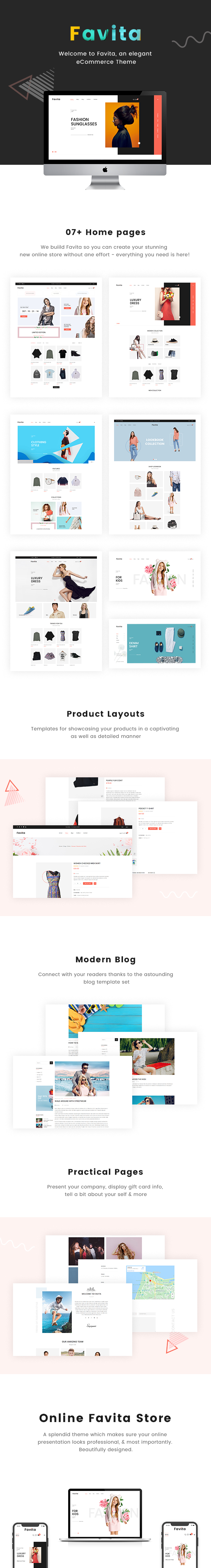 Favita - Minimal and Modern WooCommerce Fashion Theme - 1