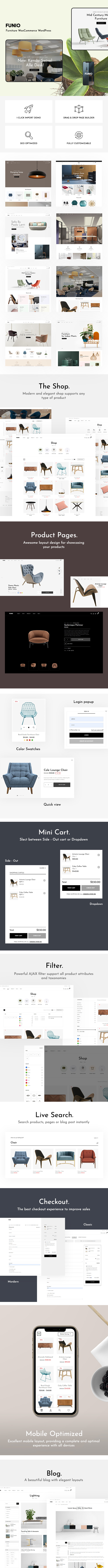 Funio – Furniture WooCommerce WordPress Theme - 1