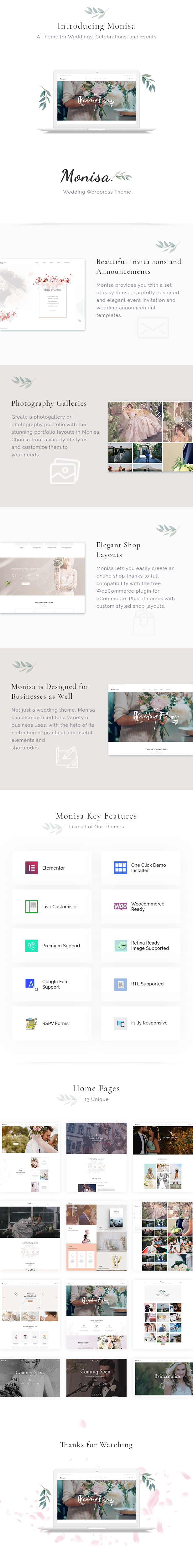 Monisa - Elegant & Clean Wedding Theme