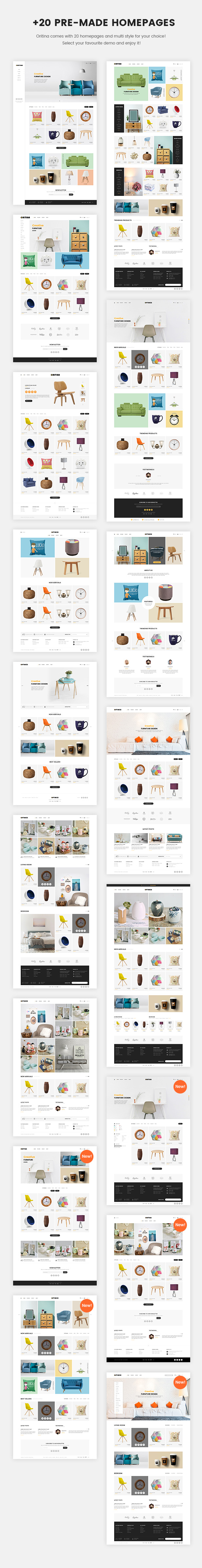 Oritina - Minimal WooCommerce Theme For Furniture, Decor, Interior | Prosyscom Tech 2