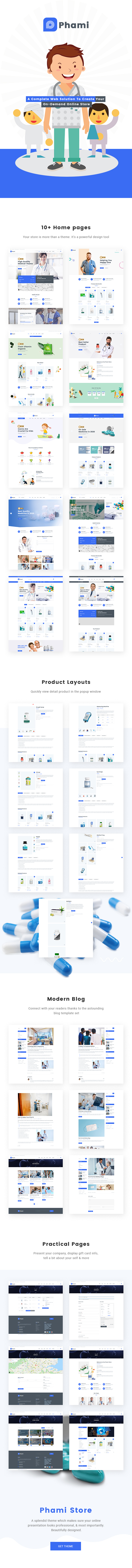 Phami – Medical & Health WooCommerce Theme - 1
