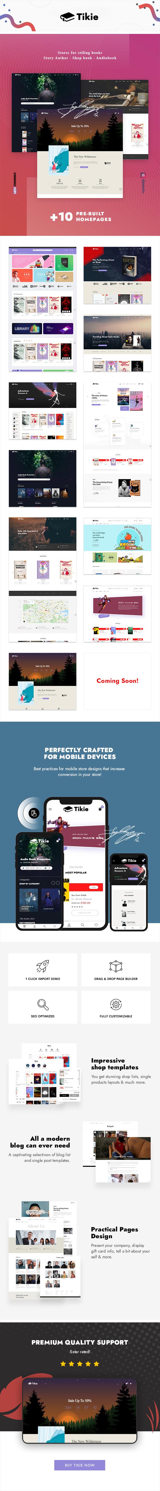 Tikie – Book Store WooCommerce WordPress Theme - 1